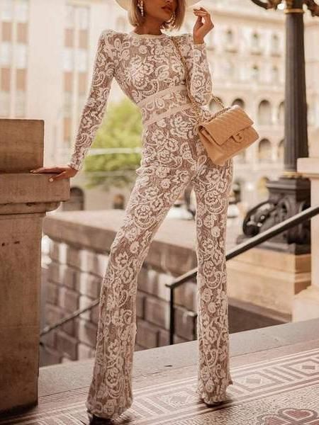 2cee3421c52 Sexy Fashion Long Sleeve Jumpsuit