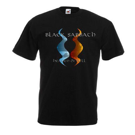 """Black Sabbath """" Heaven & Hell """" 2 Side Black T-shirt Size S,M,L,XL,XXL"""