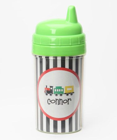 Black & White Train Personalized Sippy Cup #zulily #zulilyfinds