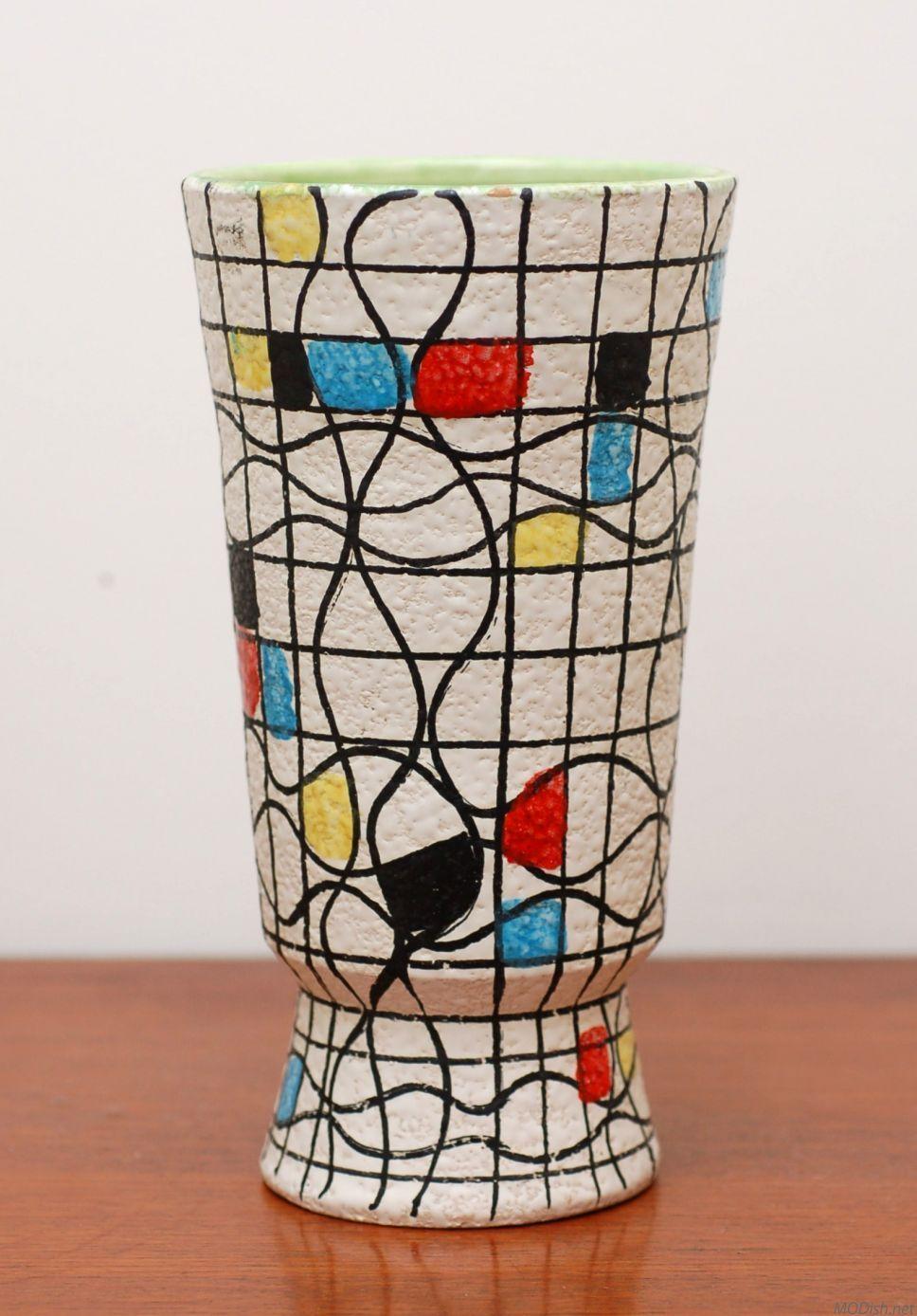Guildcraft italy 39 mondrian 39 guildcraft italy 39 mondrian for Mondrian vase