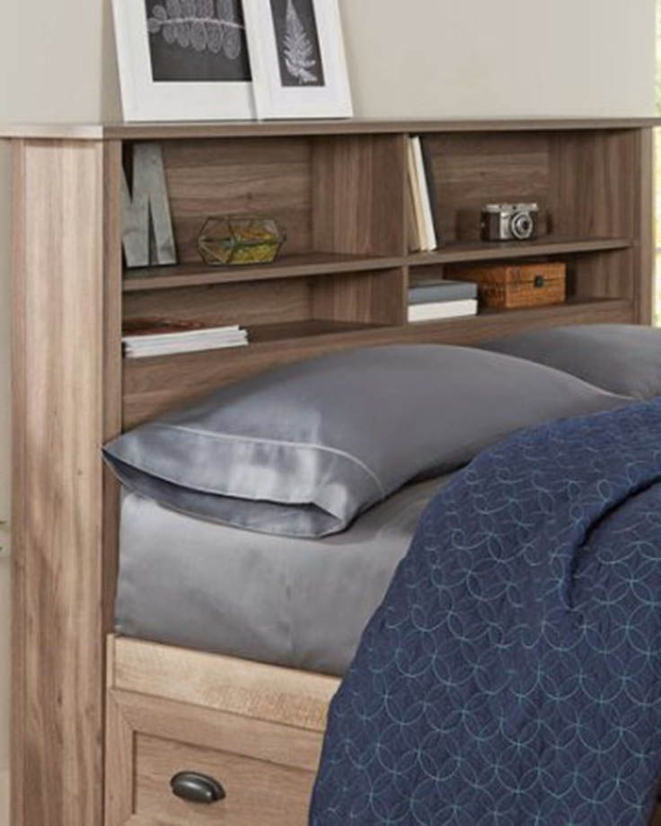 Lafayette Full Queen Bookcase Headboard Washed Oak Finish From Better Homes And Gardens