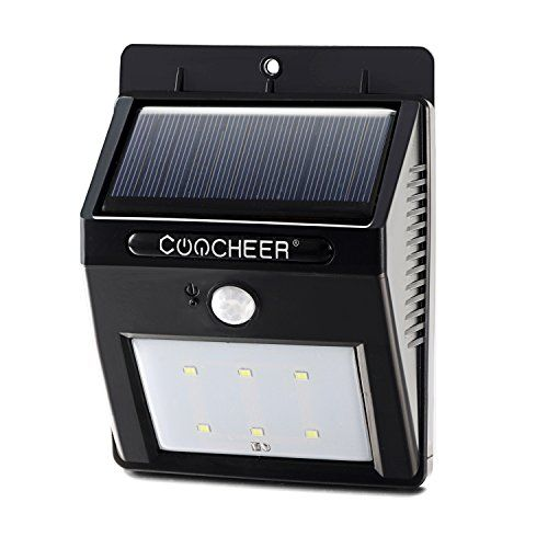 $12.99 - Coocheer Solar Motion Sensor Lights Wireless Path Lights 6 LED Security Motion Sensor Light, Weatherproof, Wireless Exterior Security Lighting Outdoor Wall Garden Lamp - http://bit.ly/29q9lQu - Easy installation: No batteries, No wiring and No tool require, seasy to fit. Energy saving, low power LED light. Bright light and Dim light auto changed by sensor activating.
