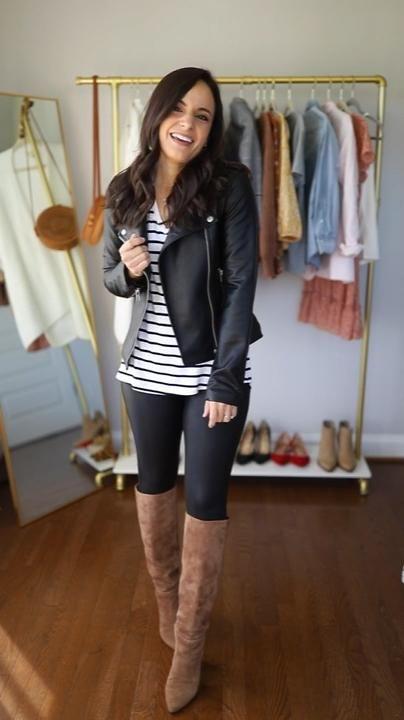 Six ways to wear Spanx faux leather leggings