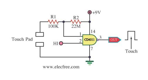 8 simple touch switch circuit projects | Circuit projects ...