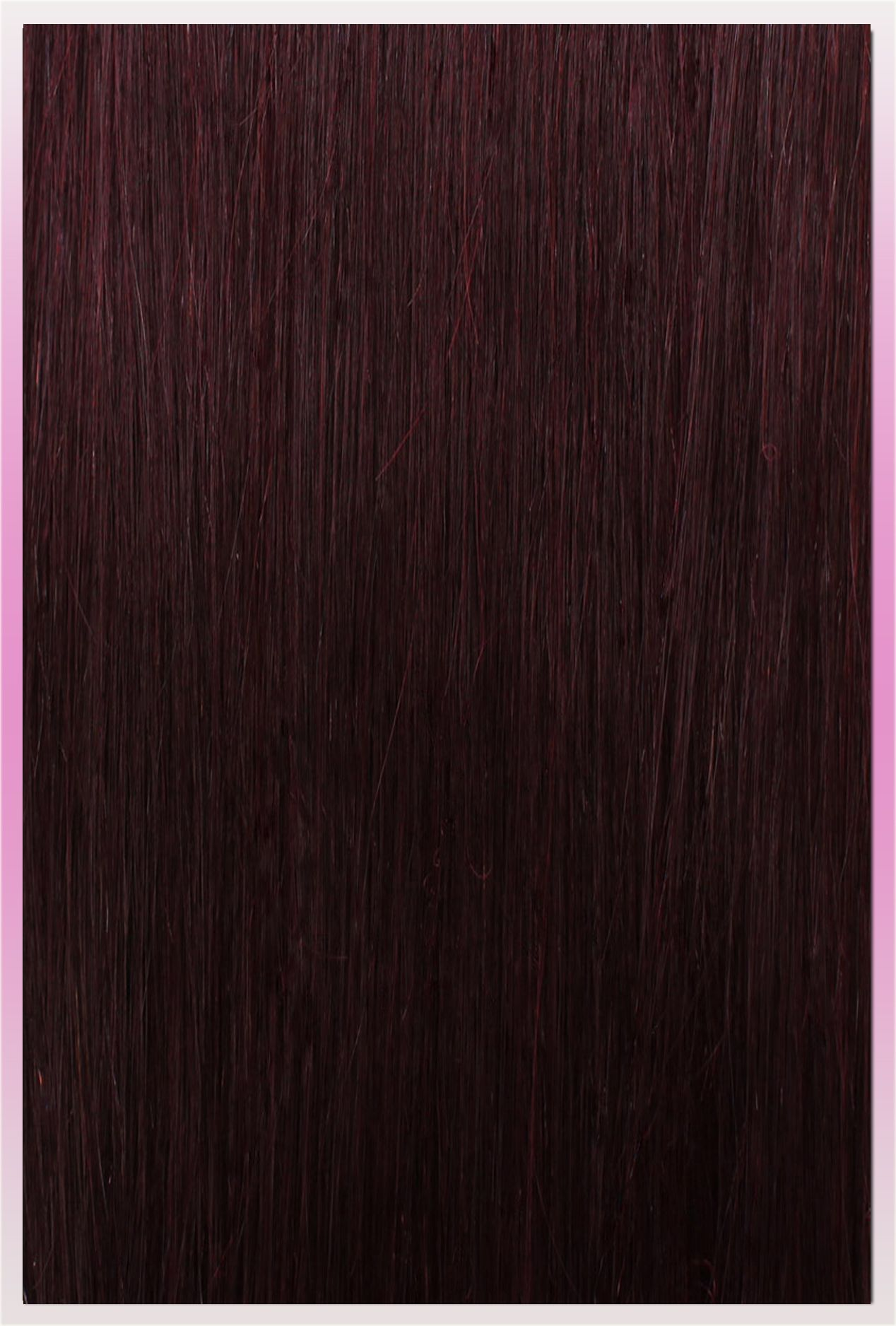Clip In Ponytail Extensions Mahogany Red 99j Human Hair