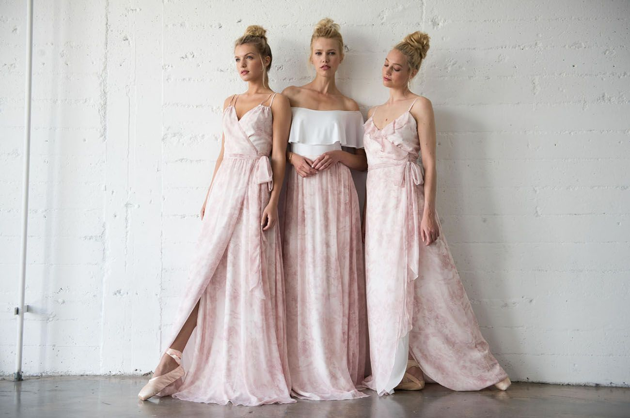 Pretty in pink blush ballet inspired bridesmaids dresses by joanna pretty in pink blush ballet inspired bridesmaids dresses by joanna august ombrellifo Choice Image