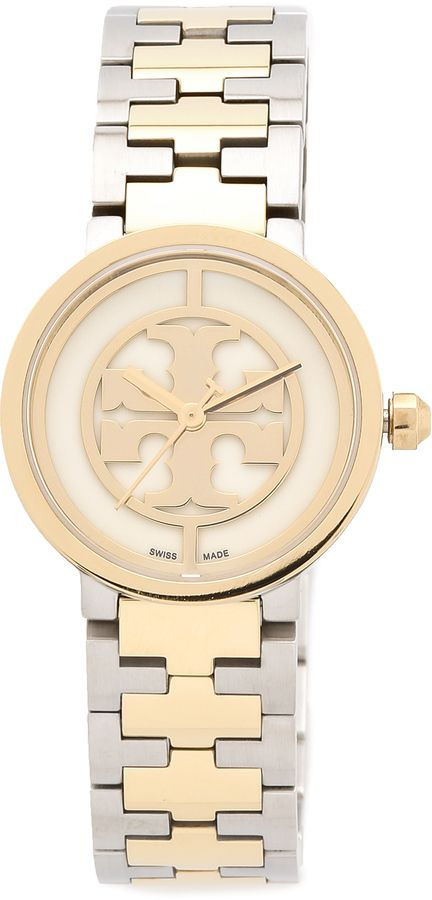 b7bb568e2 I don't wear a watch and I should. Like the silver/gold convo and the  tailored clean look. Tory Burch Reva Watch