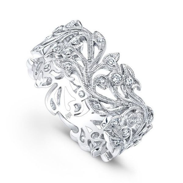 Floral Diamond Eternity Band