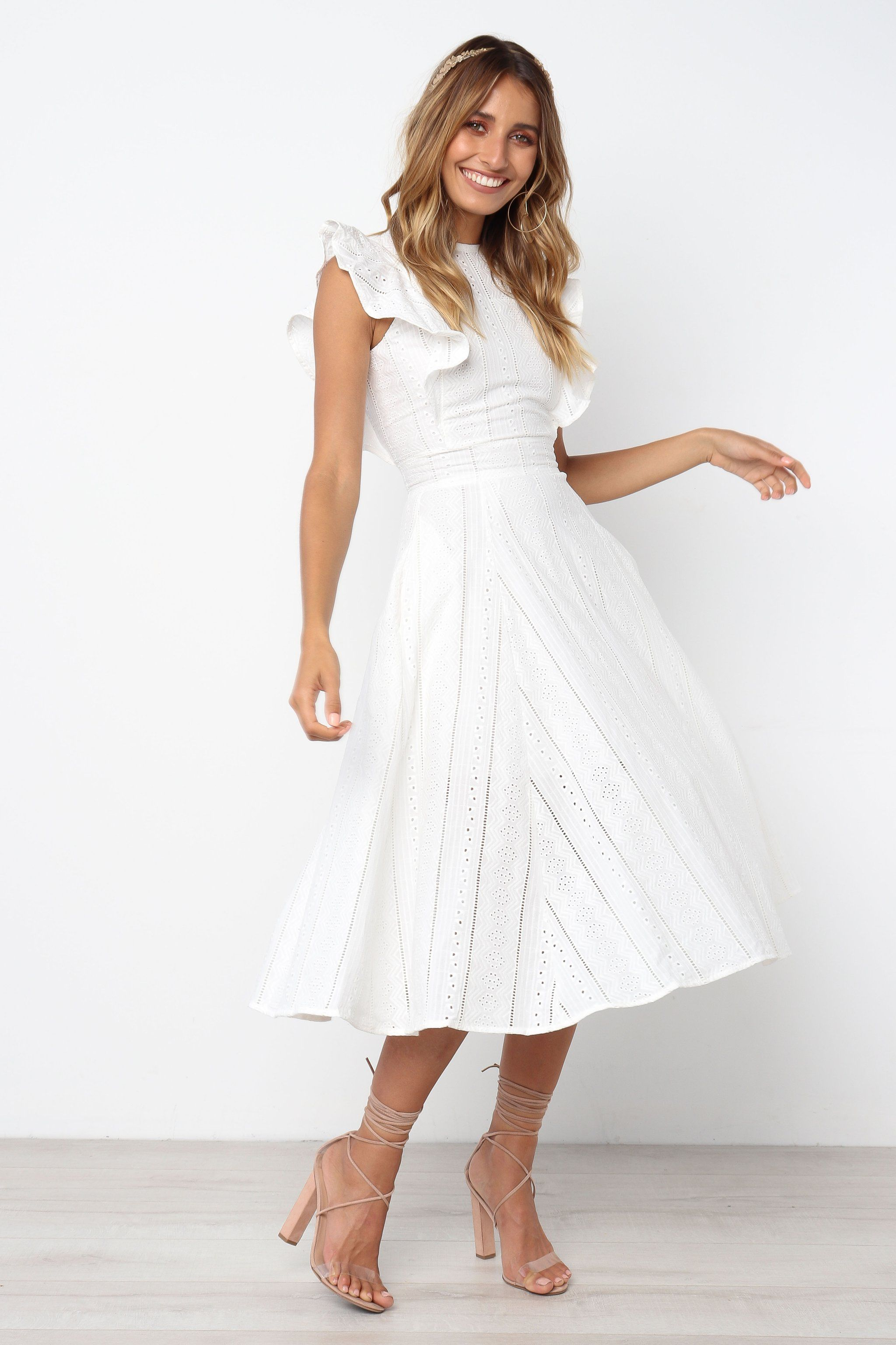 Hart dress white white dress lace white dress dresses