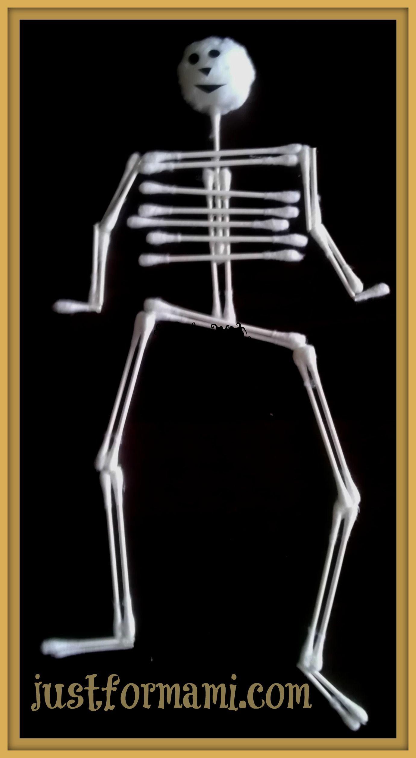 Ideas Para Halloween Esqueletos De Hisopo Manualidades