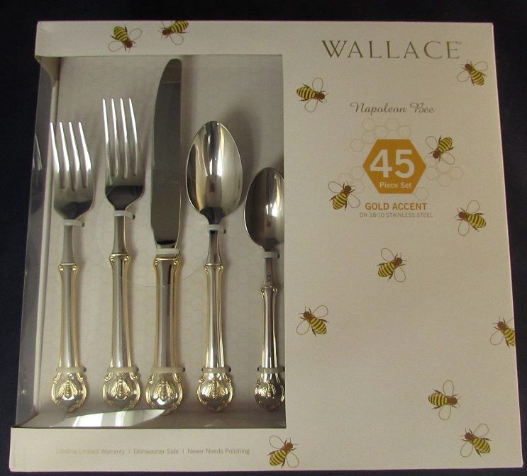 45pc Set - Wallace 18/10 Stainless Napoleon Bee Go