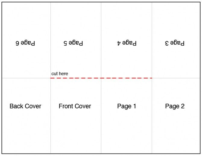 photo about Free Printable Mini Book Template named Named a French Fold or an X Fold, this easy and very simple
