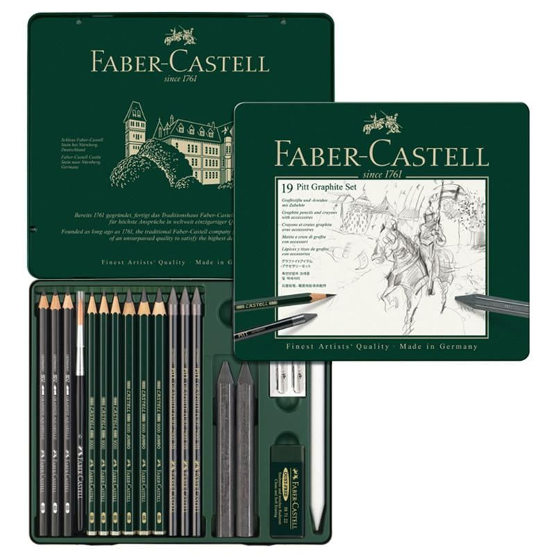 Faber Castell 19 Piece Combination Water Soluble Sketch Pencil