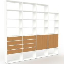 Photo of Regalsystem weiß – Regalsystem: Schubladen aus Eichenholz & Türen aus Eichenholz – hochwertige Materialien – 301
