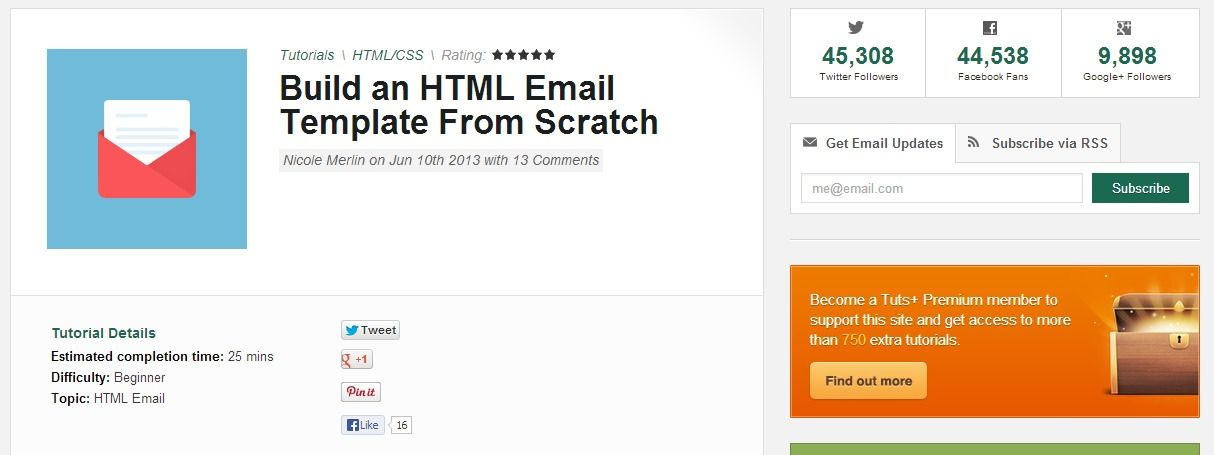 Build An Html Email Template From Scratch Web Devdesign Resources
