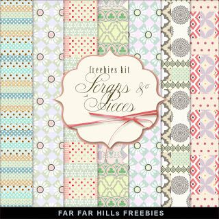 FREE New Freebies Kit of Backgrounds - Scraps and Pieces:Far Far Hill - Free database of digital illustrations and papers