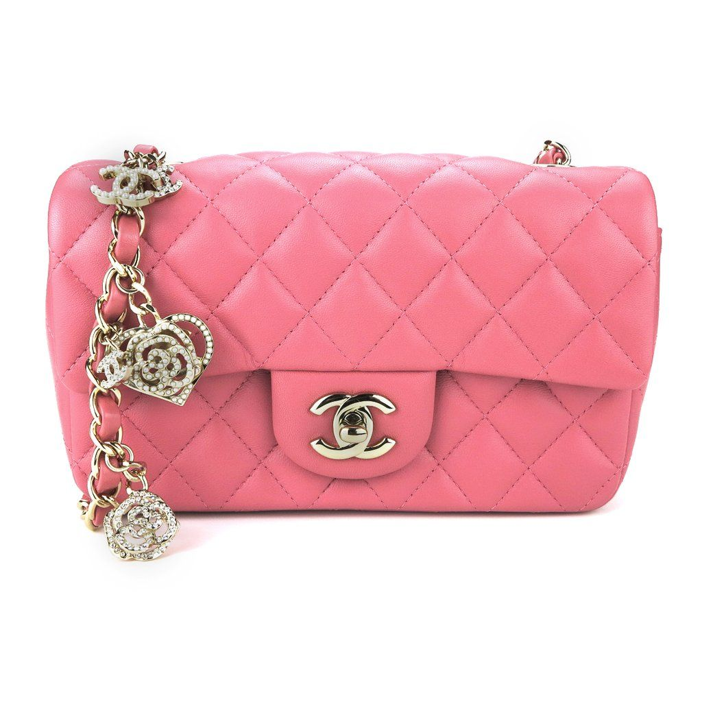 ee7cfa87906b Authentic CHANEL Mini Rectangular Flap Bag Valentine's Day Edition from  Dearluxe.com | Preloved Luxury Handbags and Accessories | Designer Fashion  ...