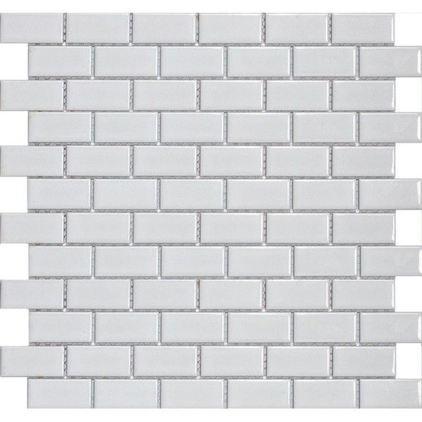 Merola Tile Metro Subway Glossy White 11 3 4 In X 11 3 4 In X 5 Mm Porcelain Mosaic Floor And Wall Tile 9 Azulejos De Mosaico Azulejos Diseño De Interiores