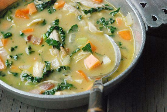 Chicken Kale And Sweet Potato Soup Recipe Food Matters Healthy