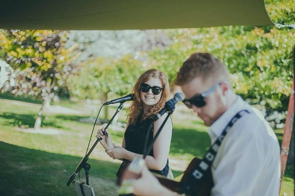 Acoustic duo Brentwood will be playing throughout the fair in MELBOURNE this weekend for @onefinedayweddingfairs. This brother-sister duo perfectly capture the essence of your special day. We look forward to chatting with brides & grooms to be about this dear #acousticduo. by event_entertainers