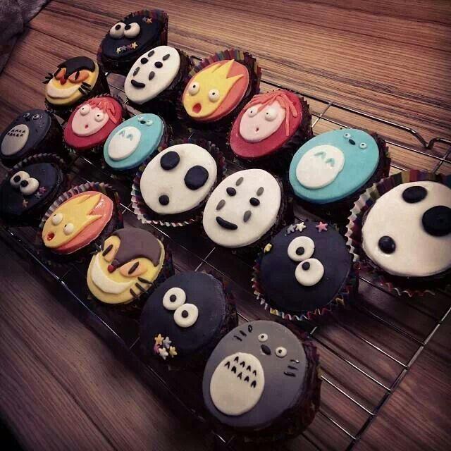 Studio ghibli cupcakes totoro o pinterest for Kuchenstudio essen