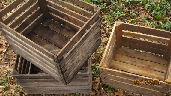 Large Full BushelRARE Vintage Apple Crates by naturescallingjess, $75.00