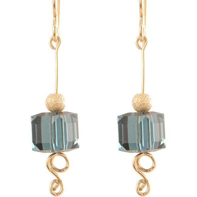 Ardent Designs 14k Gold Fill Crisp Melodic Blues Earrings