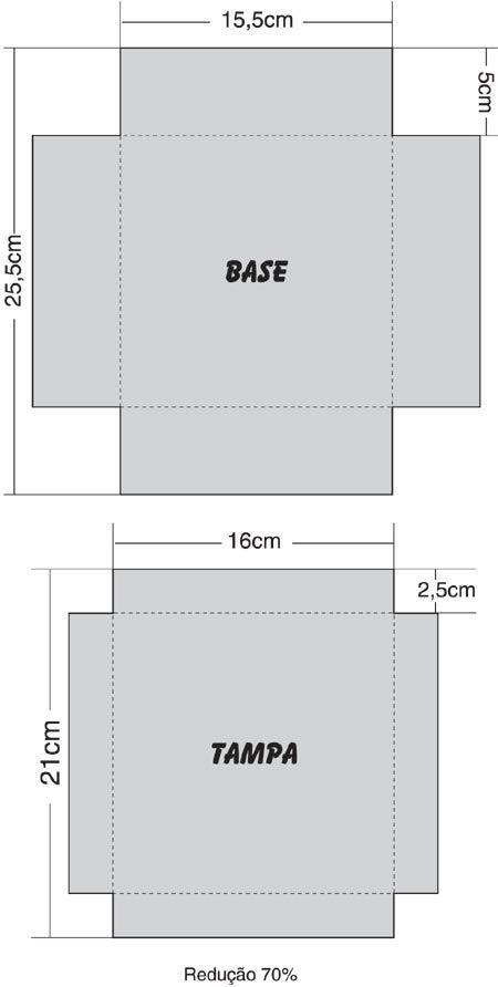7a38a5106 Moldes de caixas para presente | Caixas | Moldes de caixas de papel ...