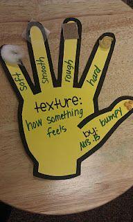 "*Mrs. Bainbridge's Class*: A ""HANDY"" Way to Learn About Texture Freebie!"