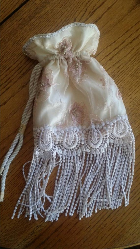 Gorgeous Lace And Pearls Wedding Day Bag Money Dance Brides Blush Purse Bridal Accessories Bags