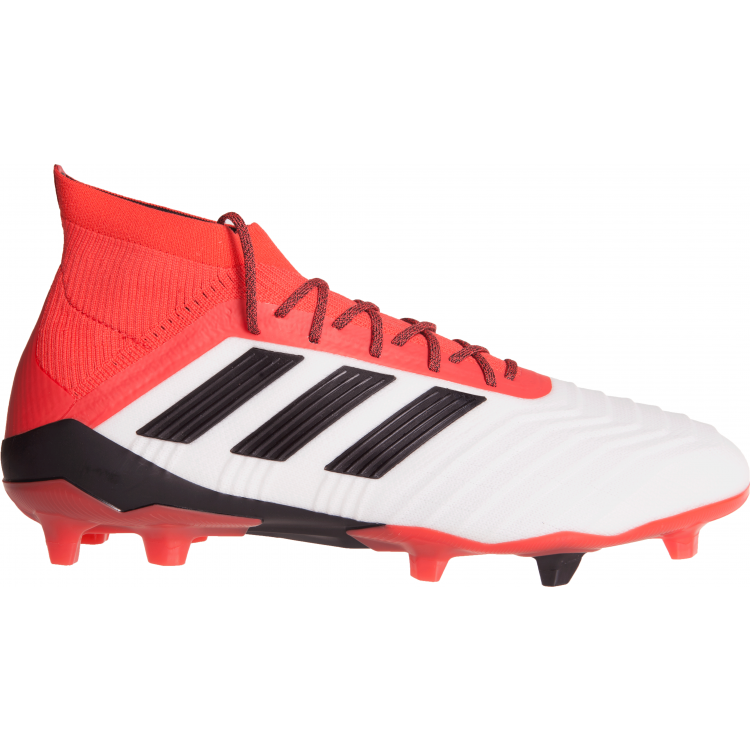 486b78fa4 Adidas Predator 18.1 Firm Ground Senior Football Boot - White Black Coral -  Boots - AFL - Sports