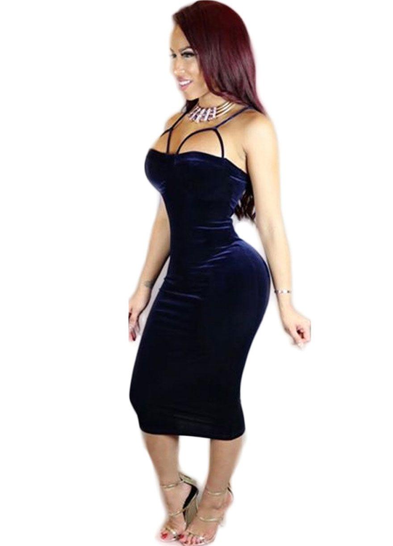 Off The Shoulder Velvet Midi Dress_Midi Dress_Dresses_Sexy Lingeire ...