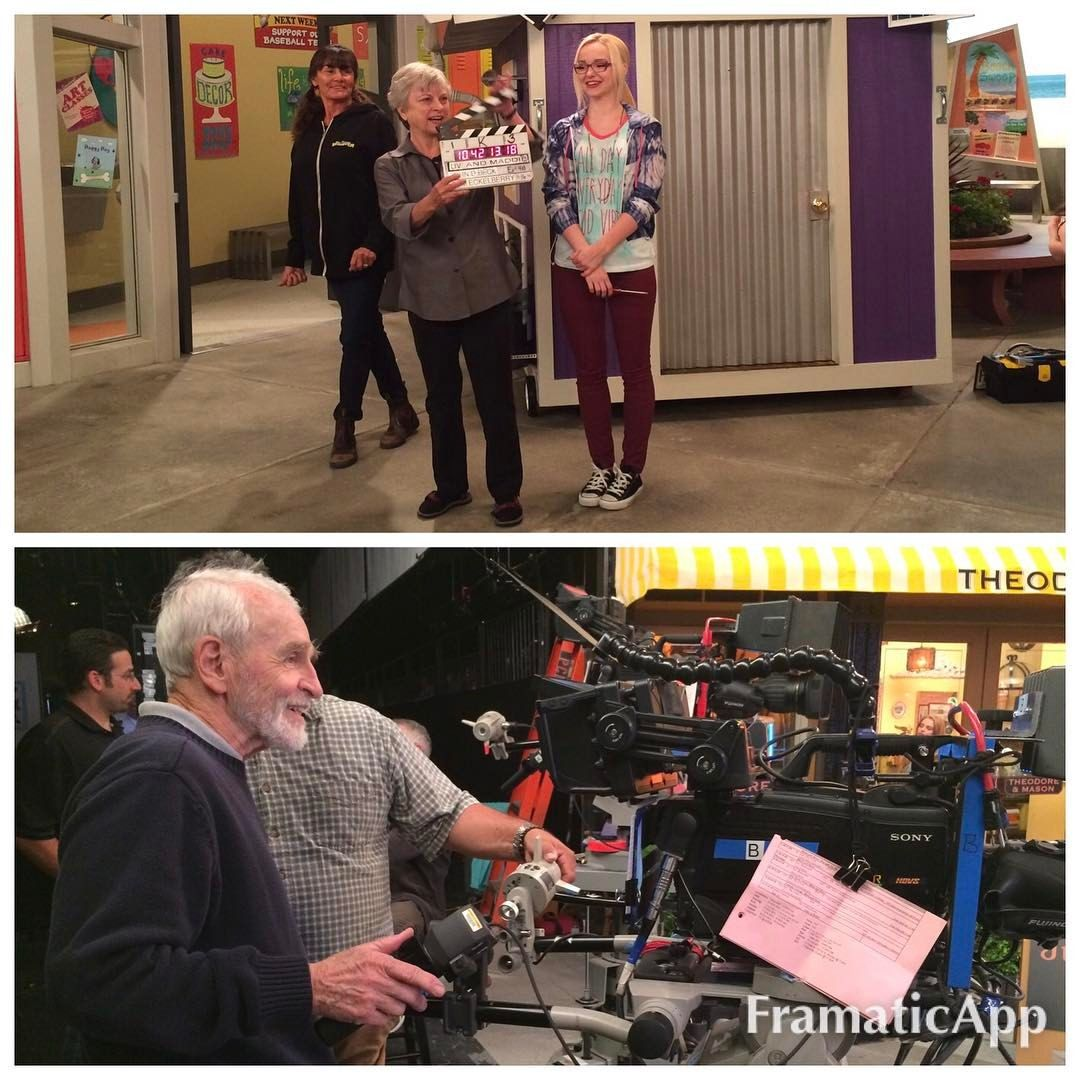 bonniejwallace: Pretty sweet: my parents/ @dovecameron 'a grandparents, operating the clapper and camera for this week's episode, TinyHouseARooney. Unforgettable. ❤ #livandmaddiecalistyle
