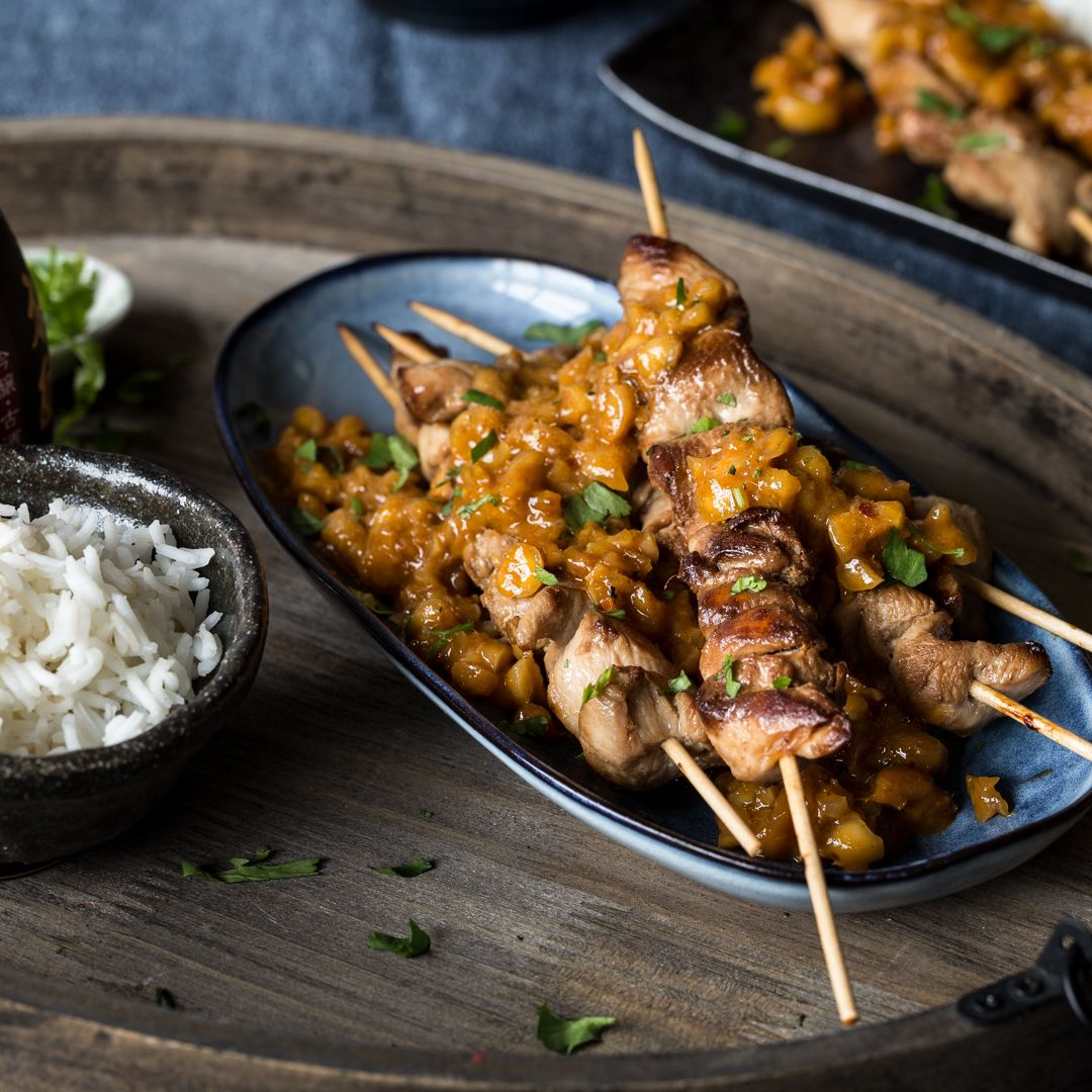 Photo of Saté skewers: juicy chicken bites with peanut sauce