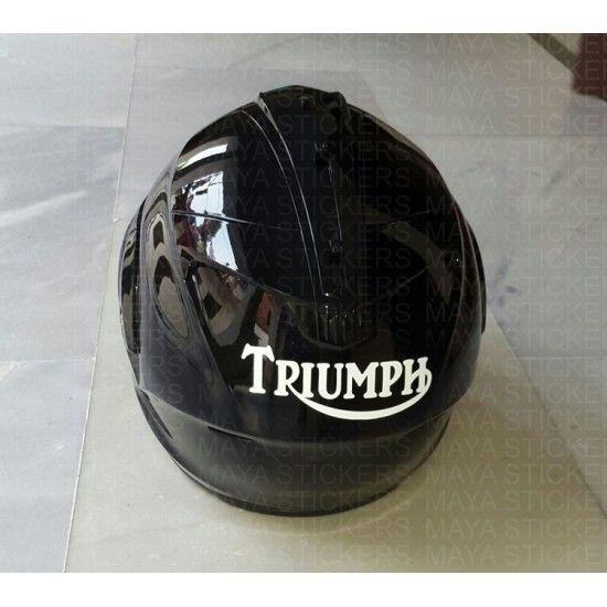 Triumph Old Logo Helmet Stickers Helmet Stickers Pinterest - Triumph motorcycle custom stickers decals