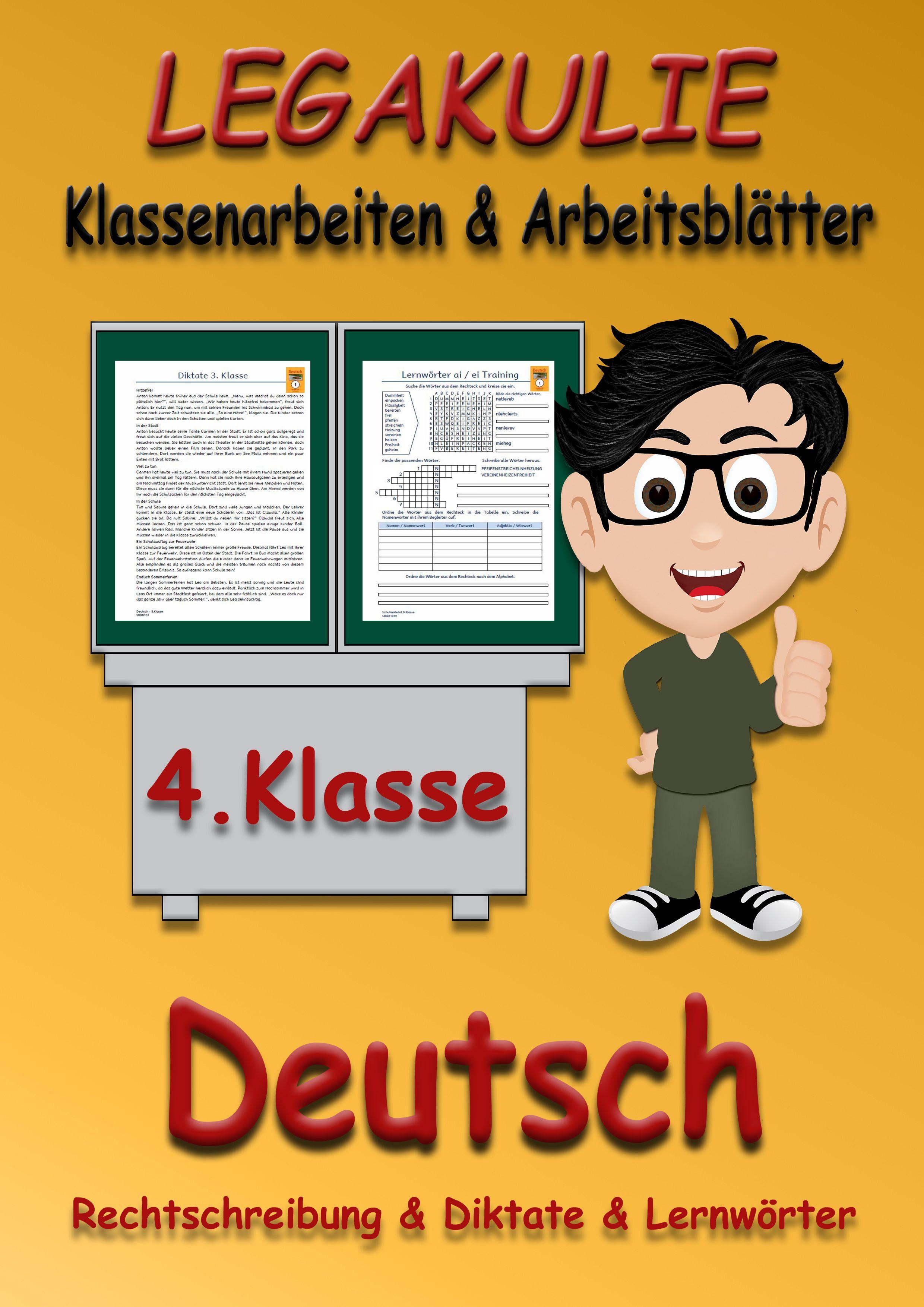 Deutsch #4Klasse #Arbeitsblatt #PDF Arbeitsblätter und Übungen für ...