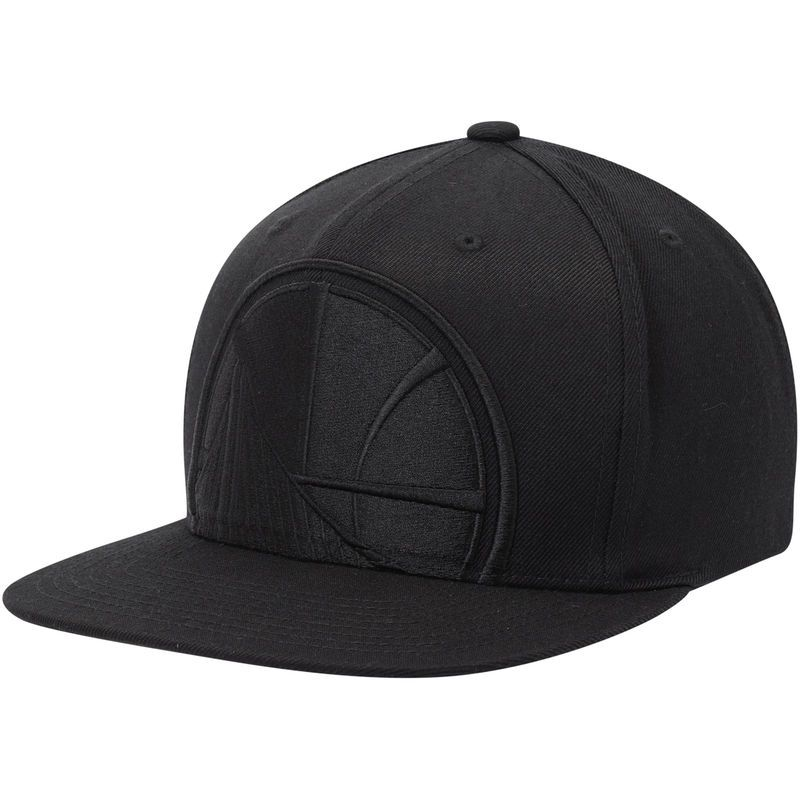 Golden State Warriors Mitchell Ness Cropped Xl Logo Snapback Adjustable Hat Black Adjustable Hat Golden State Warriors Logo Mitchell Ness