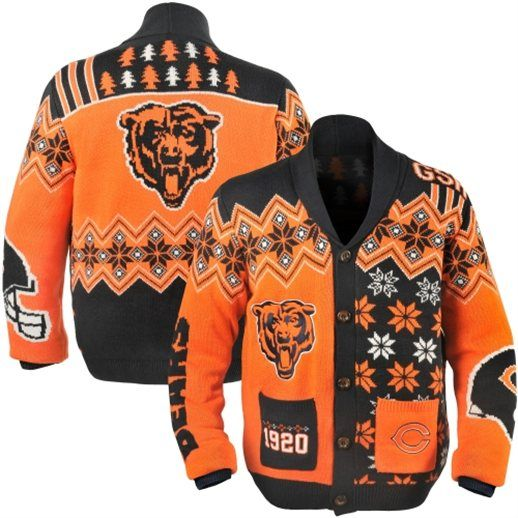 Chicago Bears Ugly Christmas Cardigan Sweater | Sports Team Ugly ...