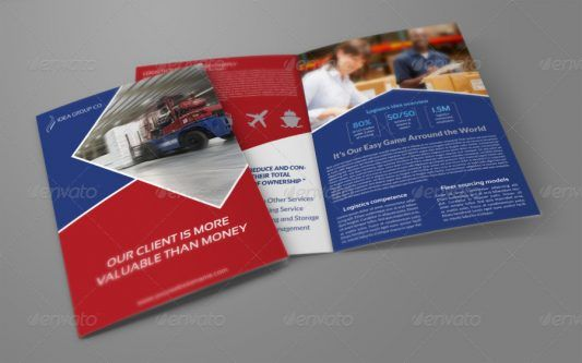 Contoh Company Profile Perusahaan Transportasi Desain Pamflet Transportasi