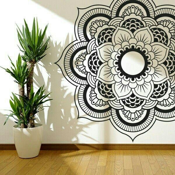 Black Wall Decor Pinterest : Black white mandala wall art decor inspiration