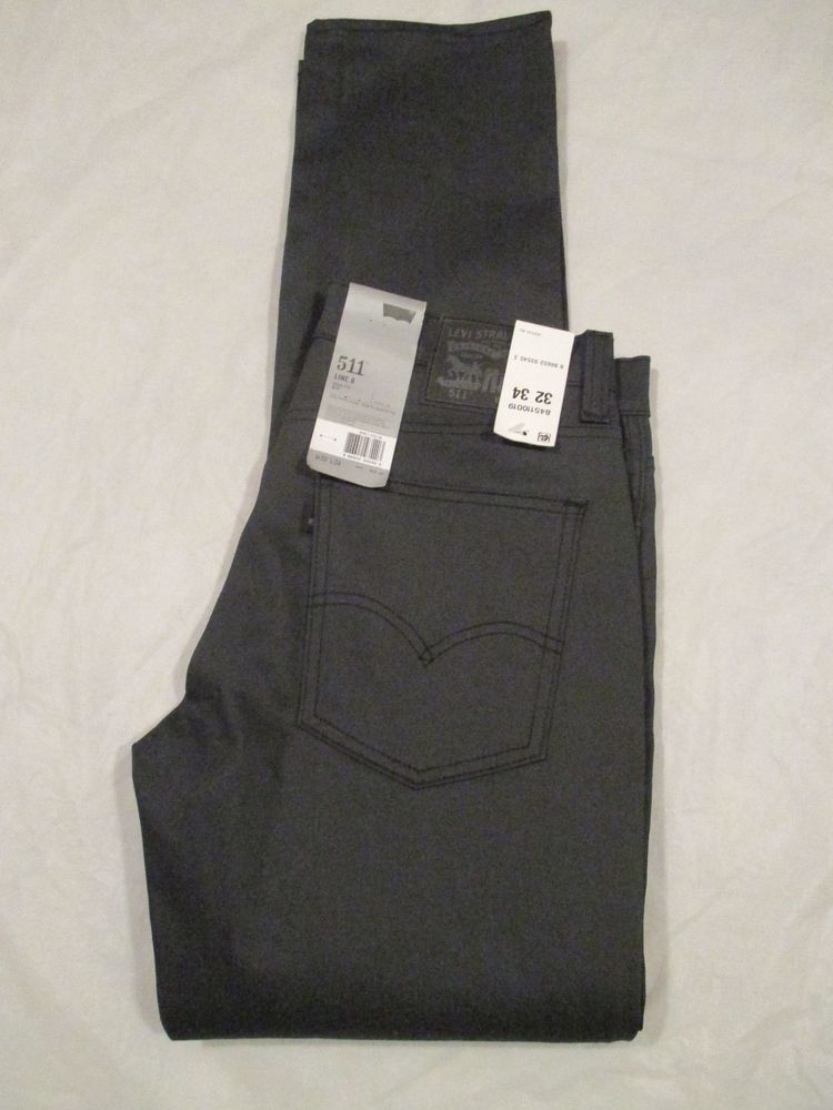 b3717770aa5 Men's Levi's 511 Jean Slim Fit Slightly Tapered Leg Color Grey Rigid  845110019…