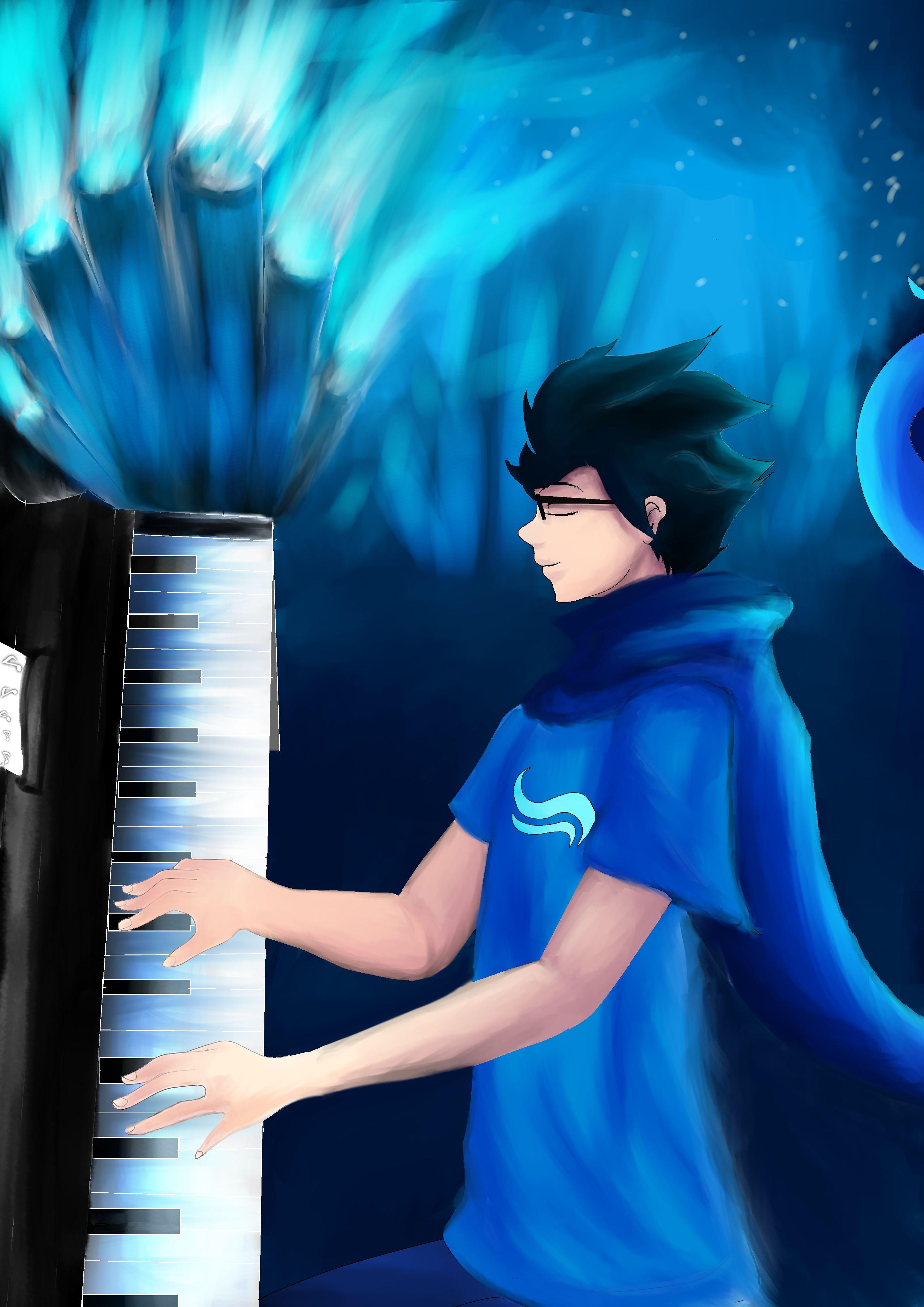john egbert play the piano Homestuck, Homestuck john, Piano