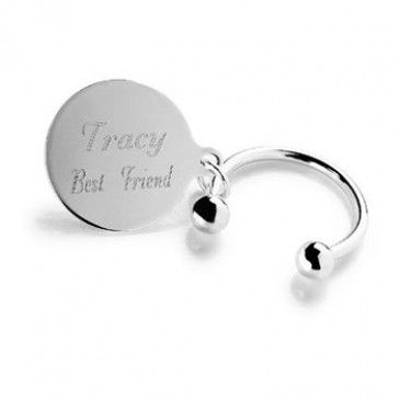 """Personalized """"Tiffany-Style"""" Keychain - #Bridesmaids #BridesmaidsGifts"""