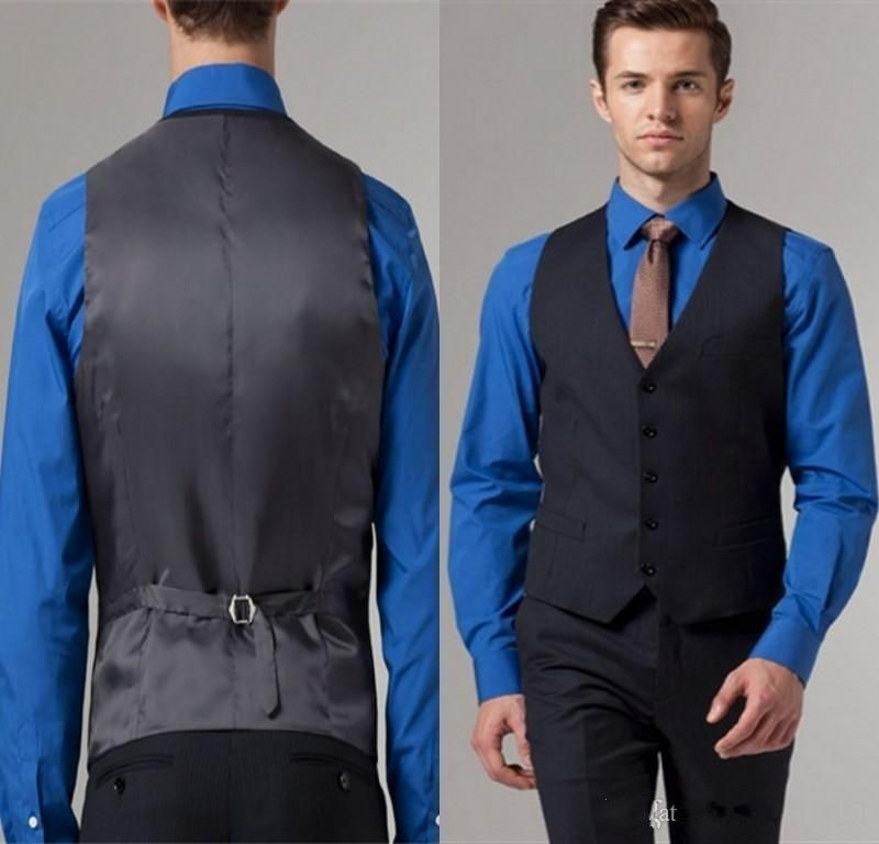 Slim Fit Black Groom Tuxedos Wedding Suits For Man Waistcoat and ...