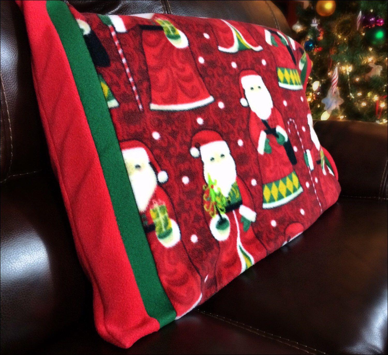 Old Fashioned Santa Fleece Pillowcase Christmas Decorations Holiday ...