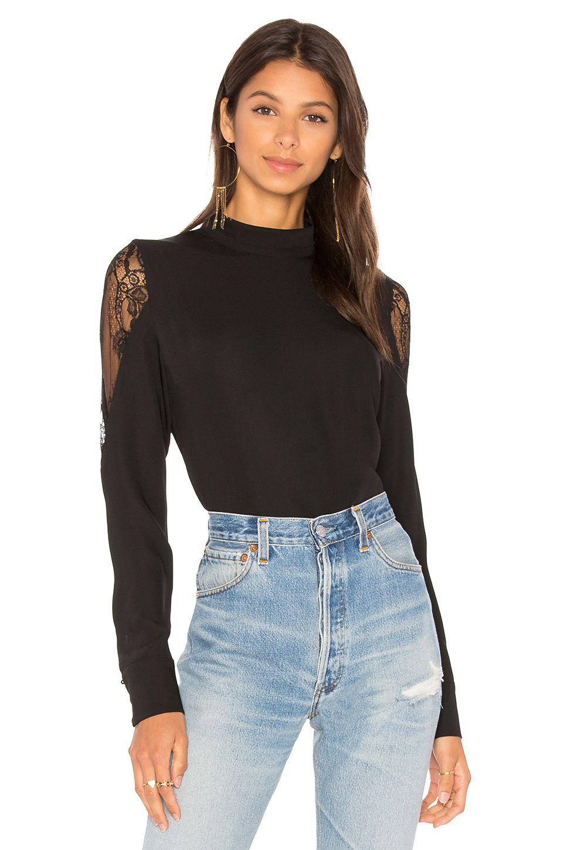 af32fce88 AIRLIE Delicate Lace Back Top in Black