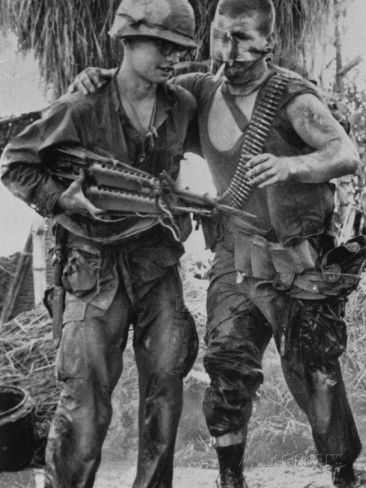 Vietnam War US Wounded Photographic Print by Henri Huet at ...