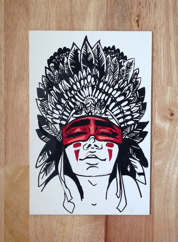 Tribal Indian Painting by UrbanDreamCatchers on Etsy