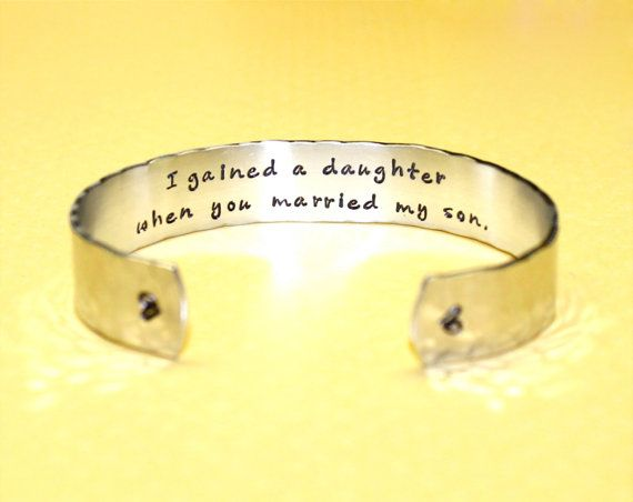 daughter in law gift daughter gifts gifts for daughter i gained a daughter custom bracelet by korena loves