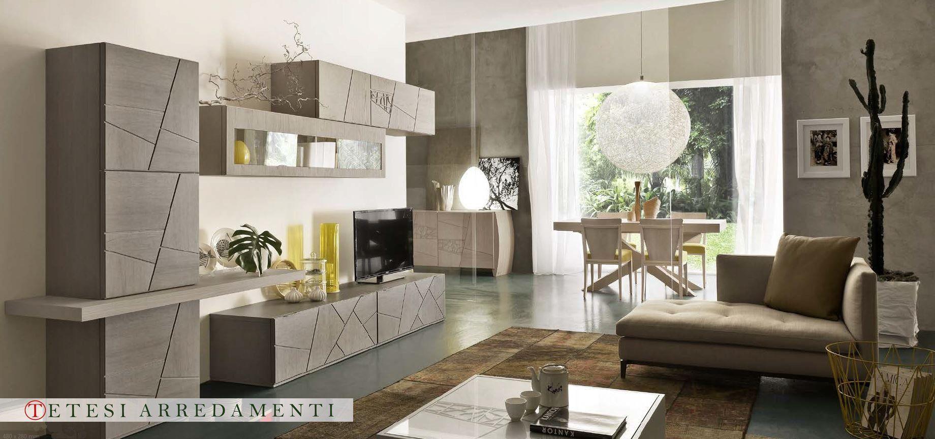 Descrizione immagine pareti attrezzate pinterest tv for Pareti attrezzate salotto